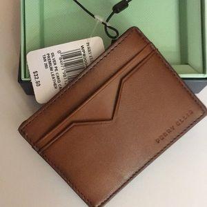 Perry Ellis Portfolio Leather Card Case